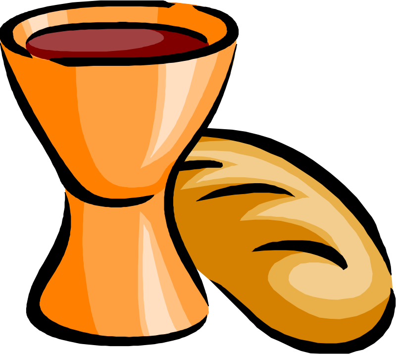 Clipart - bread and wine