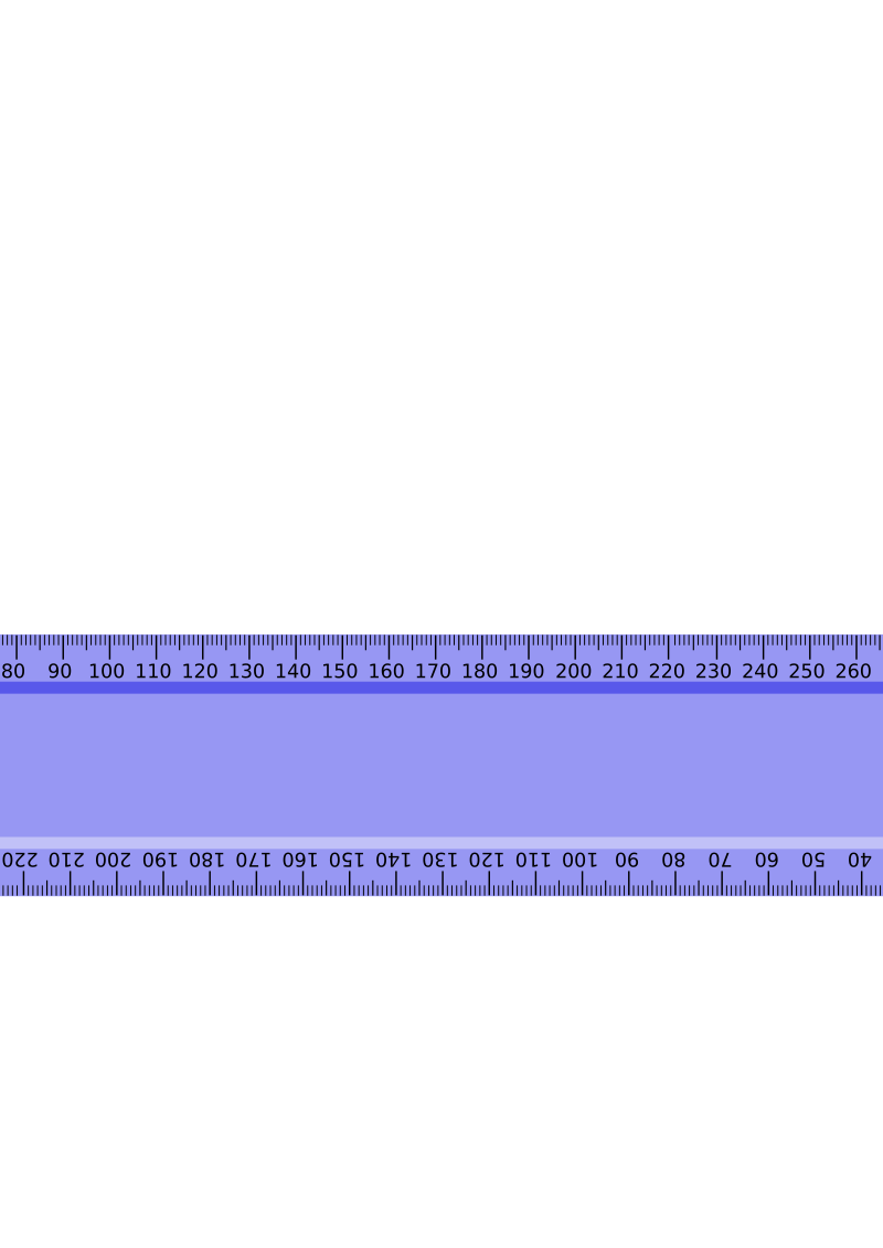 clipart - blue metric ruler