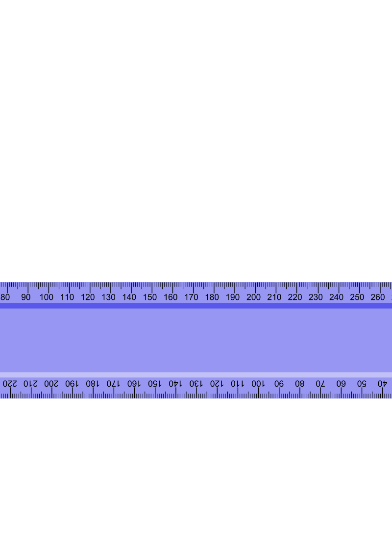 Blue Ruler 2 by kevie - The same as my other blue ruler, however in the first one the numbers are left as fonts, but in this one they are converted to curves.