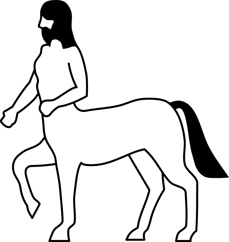 Heraldic Centaur by rones - In Greek mythology, the centaurs (from Ancient Greek: Κένταυροι – Kéntauroi) are a composite race of creatures, part human and part horse.