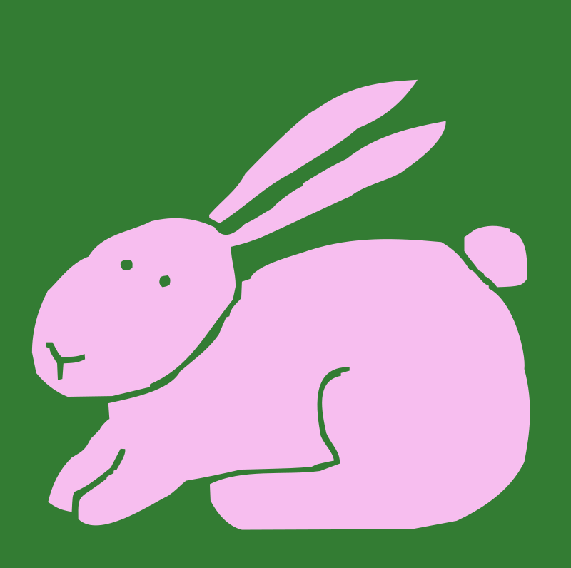 bunny by Anonymous - A pink bunny outline.