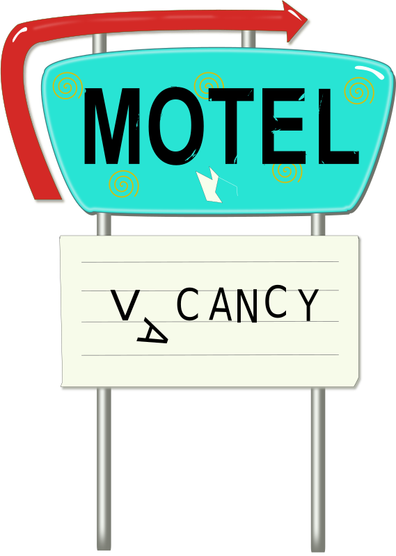 Vintage Motel Sign by laurianne - Here is another Inkscape drawing of a vintage motel sign.