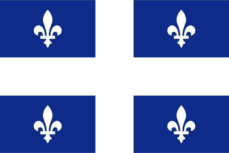 flag of Quebec Canada by Anonymous - Flag of the province of Quebec, Canada.