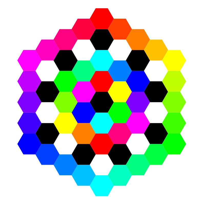 hexagon tessellation march 3 2011 by 10binary