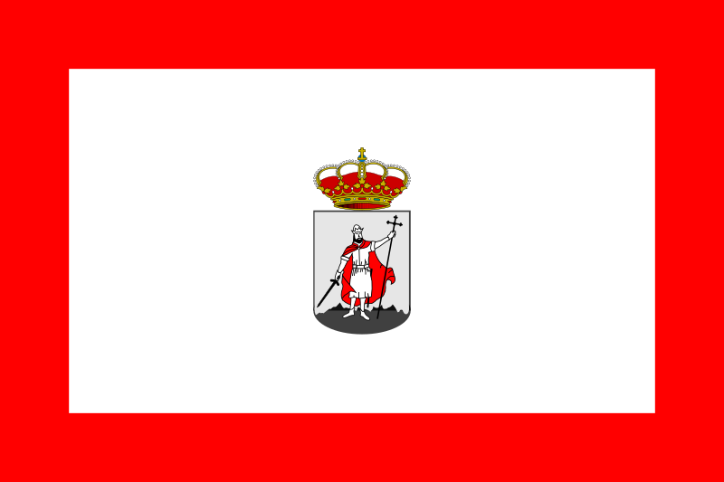 City flag of Gijon, Asturies, Spain by Anonymous