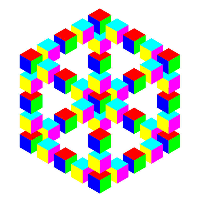 impossible hexagon cube by 10binary - This is another one of those impossible shape illusions. As usual, it can appear as a hexagon or cube.
