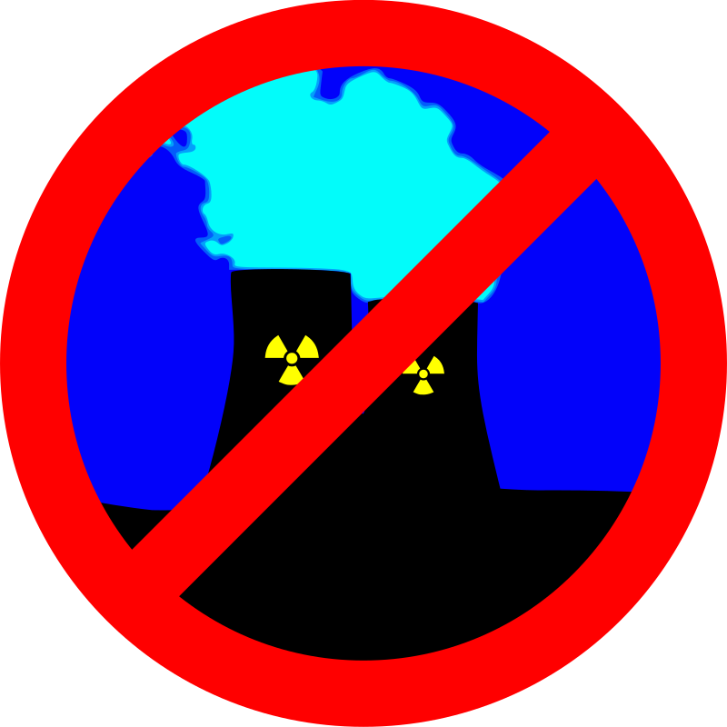 Clipart - NUCLEAR POWER? - NO THANKS!