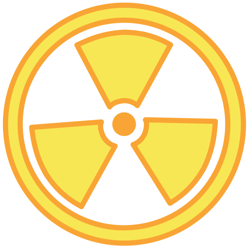 Radioactive Warning by flooredmusic - Radiological warning symbol as seen in nuclear facilities