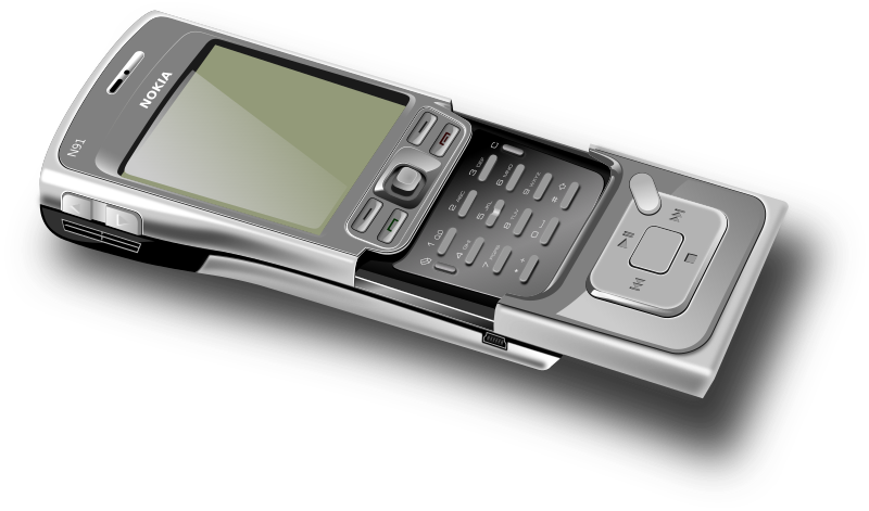 Cell phone - open by averpix - Model of opened Nokia N91 cellphone.