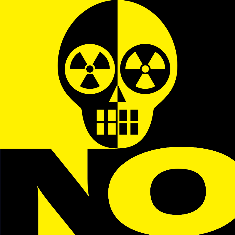 NO by touchstone - An icon in yellow and black. An abstract sign and symbol. A critical view on nuclear power: 