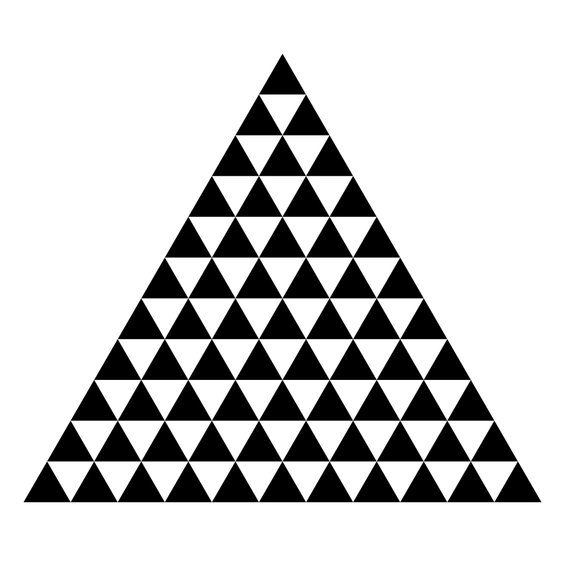 triangle of triangles by 10binary
