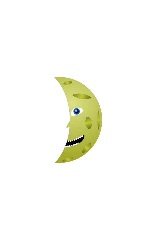 man in the moon clipart - photo #38