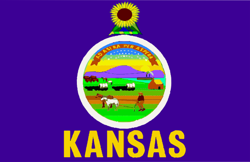 Flag of Kansas by Anonymous - Flag of Kansas.