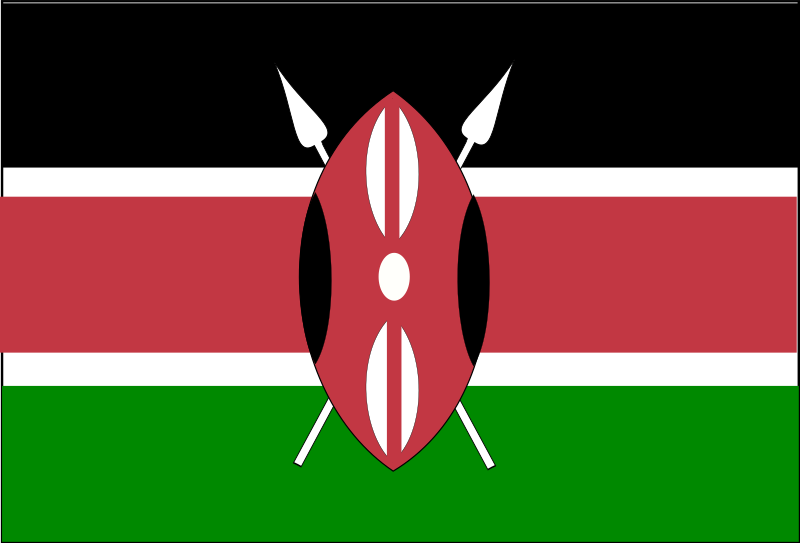 Flag of Kenya by Anonymous - Flag of Kenya.