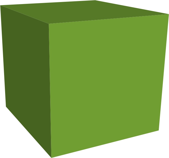 Green Cube by jgm104 - A green cube.