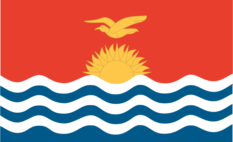 Flag of Kiribati by Anonymous - Flag of Kiribati.