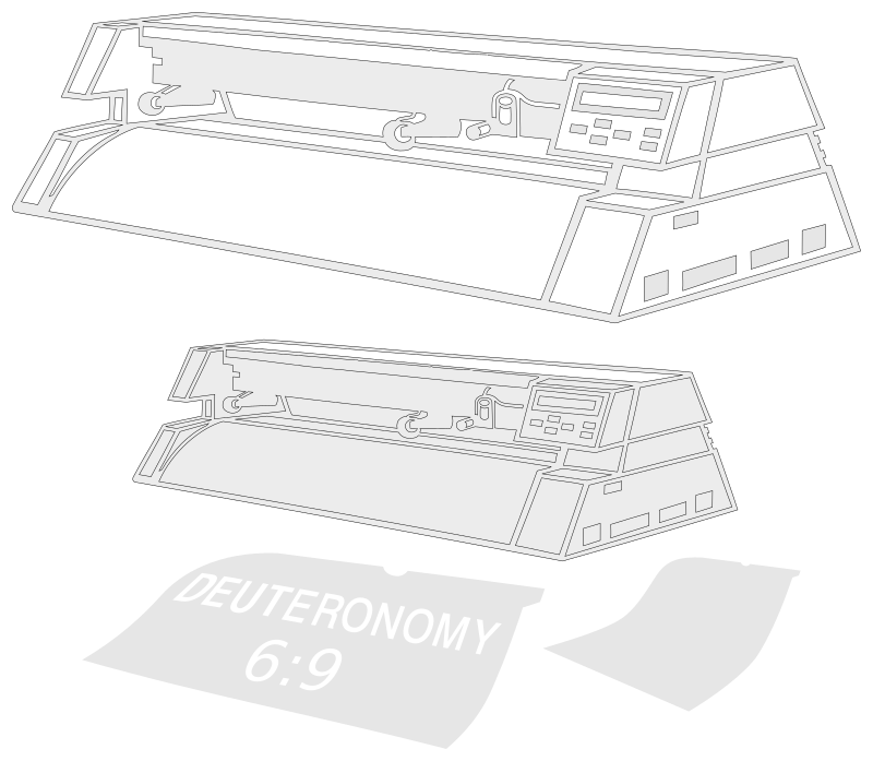 Plotter for plotter by Raker Tooth - Drawn as ink on paper, scanned, raster edited in Gimp, imported to Inkscape. Traced, then node edited. This should be a very clean vector file to cut vinyl with, make pen drawings,