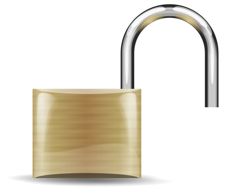 Opened Lock by Anonymous