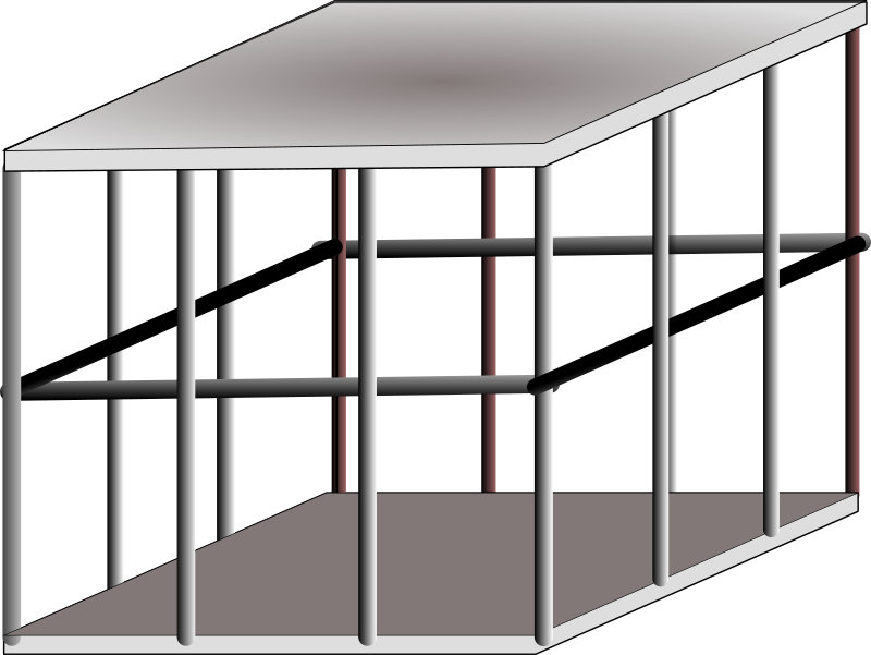 metal cage by Anonymous - A realistic looking metal cage done in a 3d style.