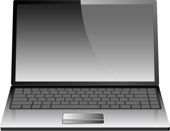 Vector laptop or notebook by vectorace modern vector laptop