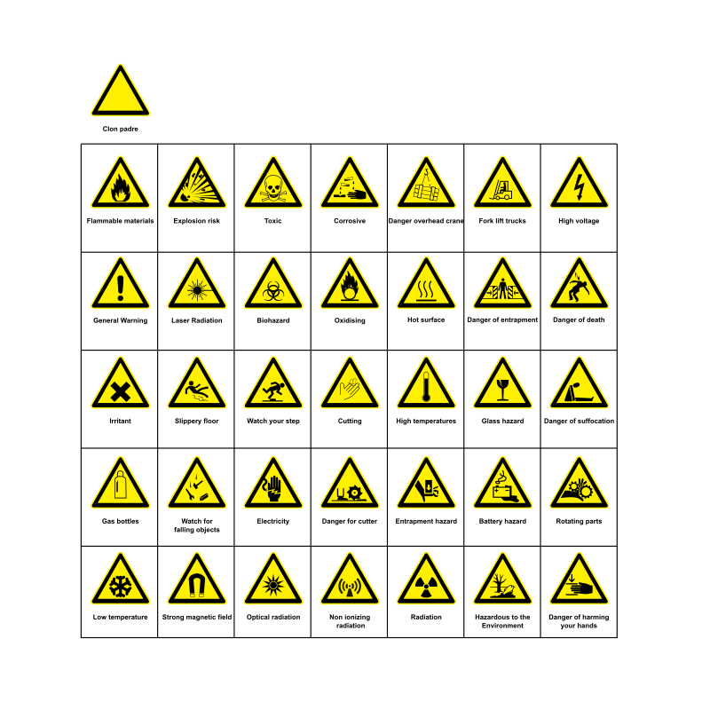 Signs Hazard Warning by h0us3s - A collection of warning signs.