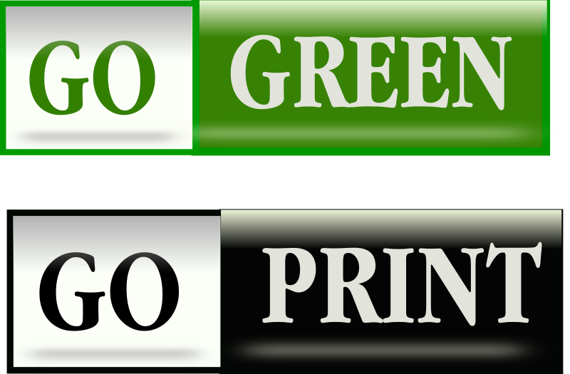 Clipart - Go Green Bars