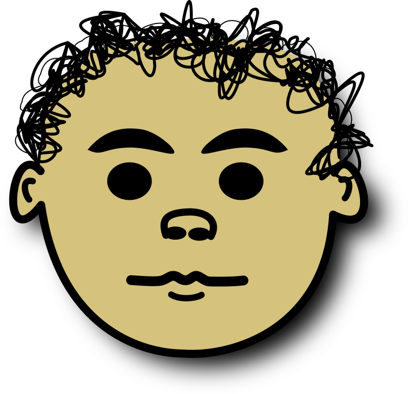 Ale normal by alepando - serius comic face with curly hair. Ale called