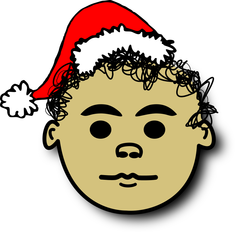 Ale santa by alepando - comic face with Santa Claus hat and curly hair. Ale called