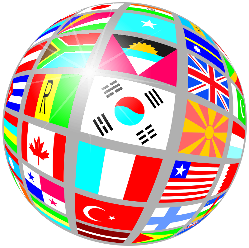 globe of flags by Anonymous
