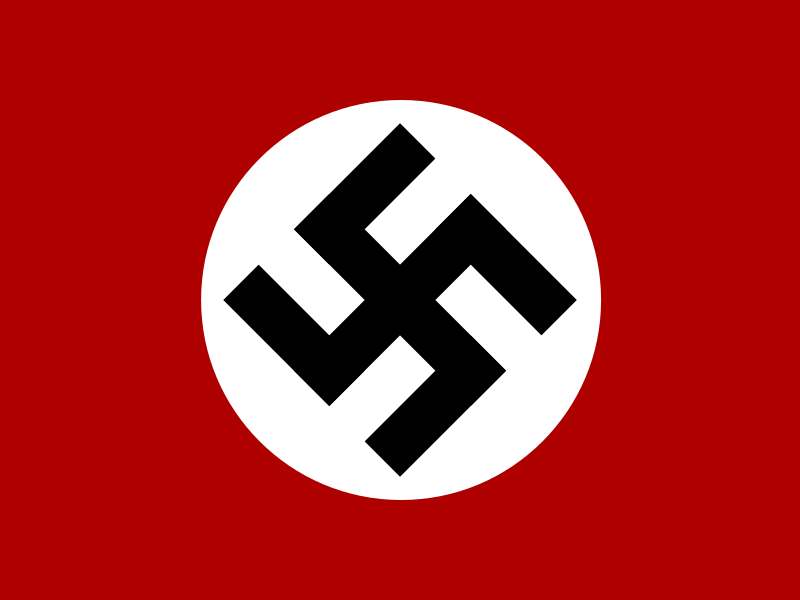 nazi historic flag by Anonymous - The historic flag of the Nazi Party.