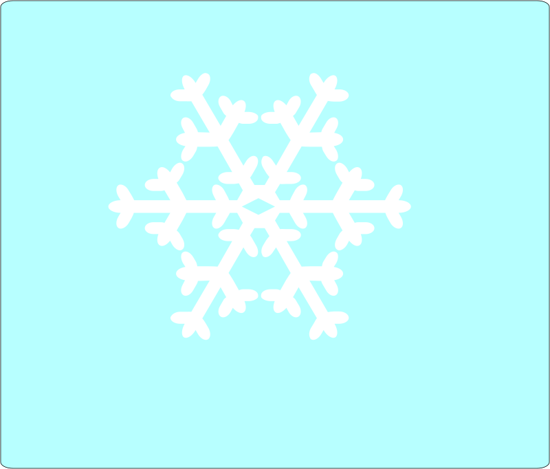 Weather symbol: Snow Flake6 by mobius - Snow flake