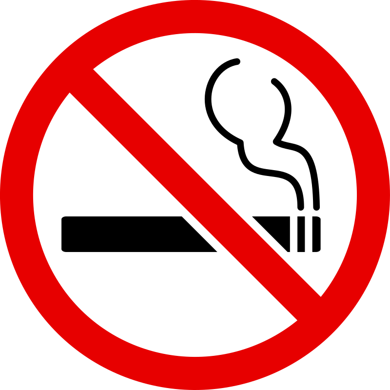 "No-Smoking Sign by tribut - A simple ""no smoking"" sign as seen in many public places."