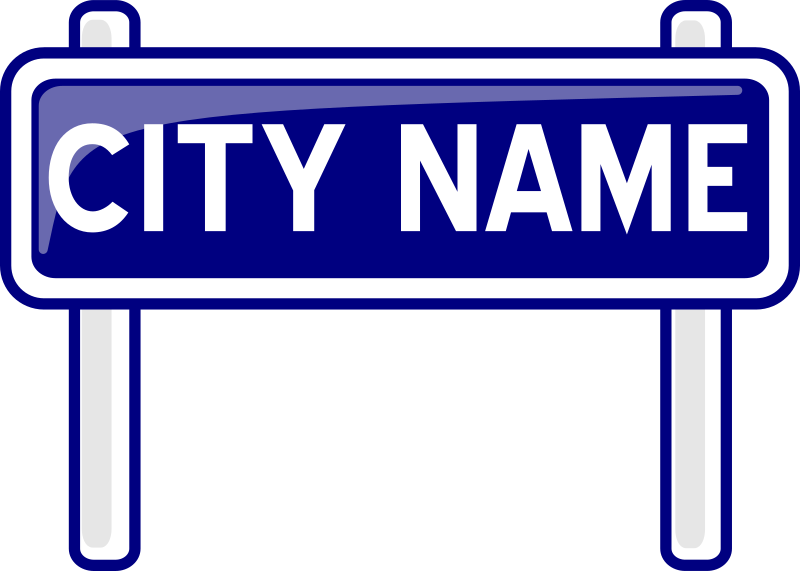 City nameplate by PeterM