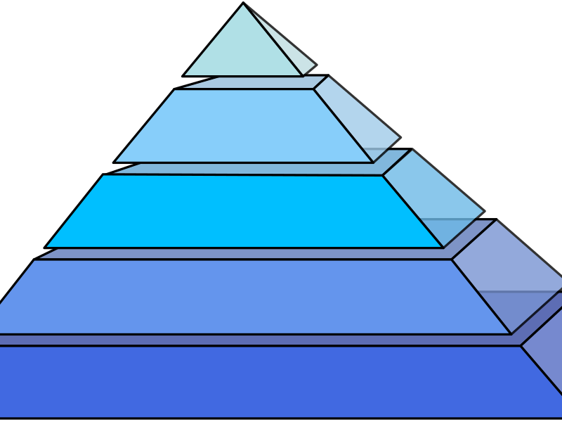 piramide by Anonymous - A pyramid with space between each section.