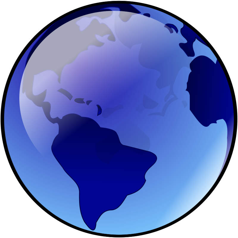 blue earth by darkowl - A not to detailed picture of earth with land masses in dark blue.