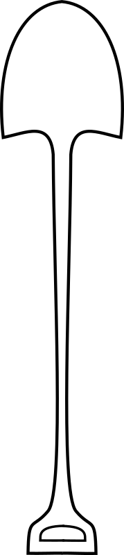 simple shovel by Anonymous - An outline of a shovel.
