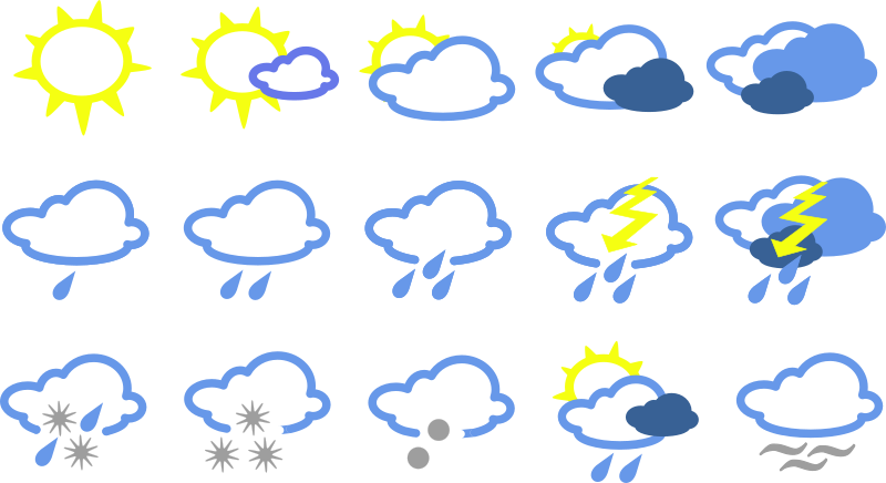 simple weather symbols by Anonymous