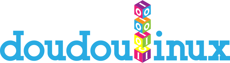 doudoulinux logo by jgm104 - This one is a bit far afield, but I wanted to try something inspired by children's blocks and binary code.