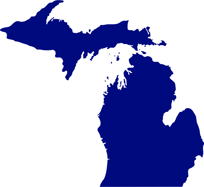 state of Michigan by Anonymous - The state of MIchigan as an outline.