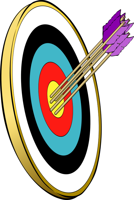 arrows and target by andresmp - Used a file called SnarkHunter_Arrow_in_the_gold.svg