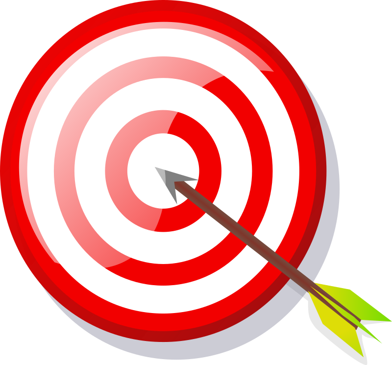target with arrow by Anonymous