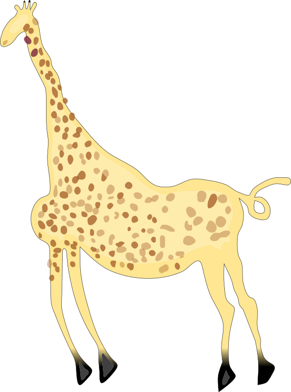 Rock Art Acacus Giraffe - Colored by SeriousTux