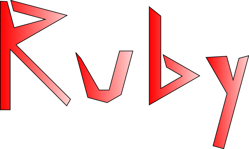 Ruby Random Logo by luiji - This is a random logo I made for Ruby. It is similar in design to the one I made for PL/0. The randomness in this one represents how easy it is to create messy code in Ruby.