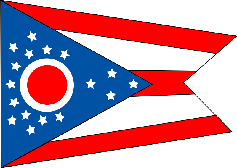 Flag of the state of Ohio by Anonymous