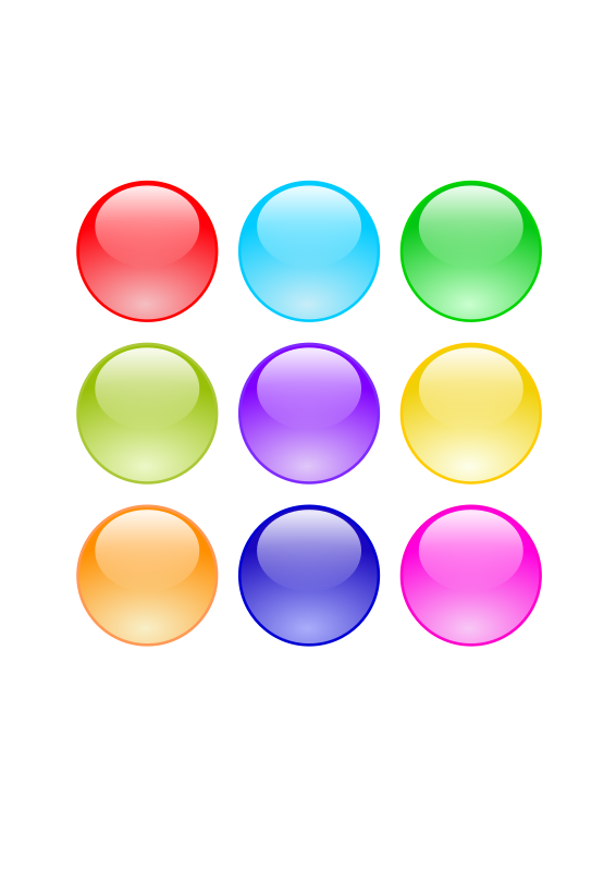 Glossy Circle Buttons by pauliuw - Glossy Circle Buttons in 9 different colors