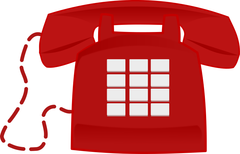 Clipart - Red Phone