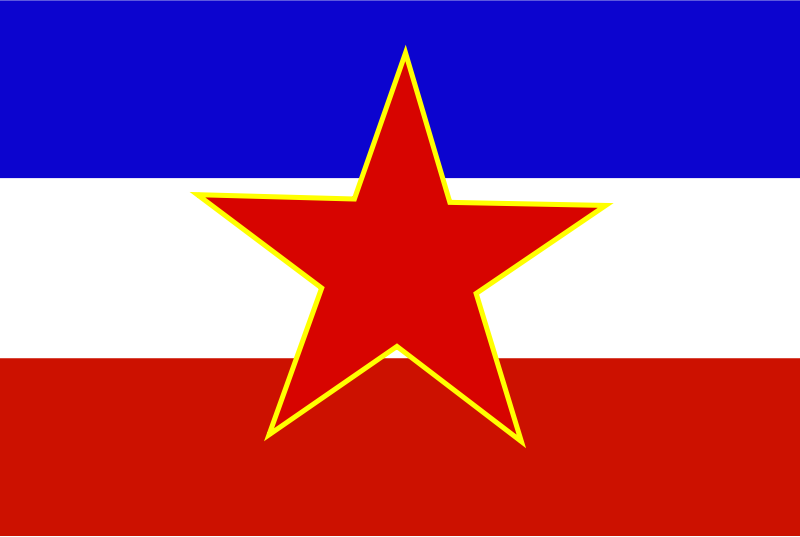 Flag of Yugoslavia - historic by Anonymous -