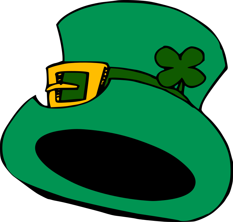 Green hat by liftarn - A green hat with golden buckle and a shamrock.