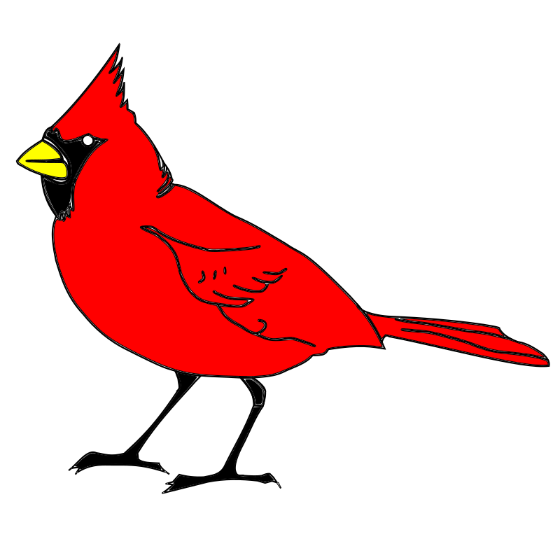 cardinal remix 1 by 10binary - This is my first remix of RobGTX's Cardinal. I simply changed the stroke and fill of the objects to the bright colors I wanted. I also resized the page to 720x720 because it's my standard image size I use for all my art.