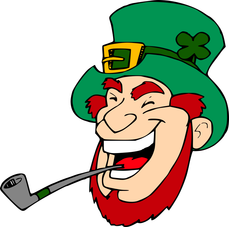 Laughing leprechaun by liftarn